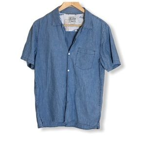 Lucky Brand Denim Button Down Collared Tee Small